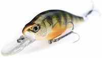 LIVETARGET Lures YPJ73M Yellow Perch Crankbait/Jerkbait Medium Dive 2 7/8