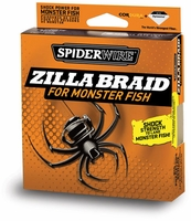 Spiderwire Zilla Braid 20lb-50lb 125yd Filler Spool