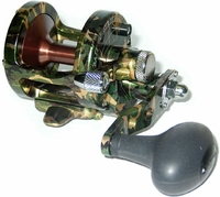 Avet SX 5.3 MC Single Speed Lever Drag Casting Reel Green Camo