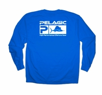 Pelagic 132-LS-RY Flag Logo LS Tee Shirt Royal
