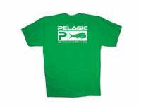 Pelagic Flag Logo Green T-Shirt