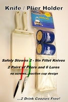 Sportfish SFP-KPH 2K Lure/Plier Holder with 2 Drink Koozies Accessories