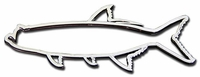 Stickerup Fish Series Tarpon Decal