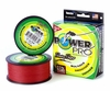 Powerpro Braided Spectra Fiber Fishing Line Vermilion Red 150 Yds.