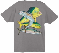 Aftco Guy Harvey Bull Dolphin Wahoo King Tee