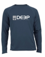 Deep Ocean Performance UPF Long Sleeve Shirt Blue