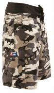 Pelagic 222 Fish Camo Shorts Grey