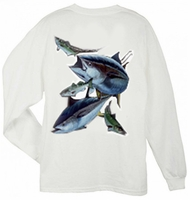Aftco MHC62356 Guy Harvey Mens Hungry Tuna Champion LS Tee Shirt