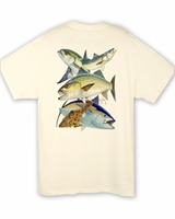 Aftco MTH1262 Guy Harvey Northeast Collage Tee Shirt