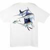 Aftco MTH1566 Guy Harvey Trouble Mens Tee Shirt