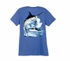 Aftco LTH3301 Guy Harvey Marlin Boat Ladies Tee Shirt