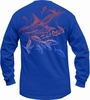 Salt Life SLM052 Men's Marlin Craze Collage LS Tees