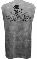 Salt Life SLM643 Men's Skull and Poles SLX Performance Tank