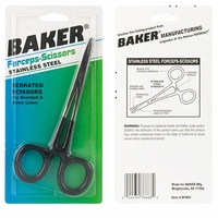 Baker Tools BSF6V Forceps Scissor with PVC coated handle