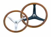 Edson 972STK-13-750 Teak-Rimmed Power Wheel with Tapered Shaft