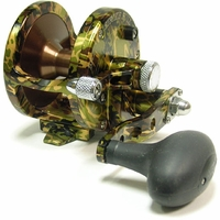 Avet JX 6.0 Single Speed Lever Drag Casting Reel Green Camo