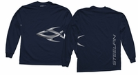 Steelfin Long Sleeve Logo Shirt Navy