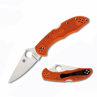 Spyderco C11FPOR Delica4 Lightweight Flat Ground Plainedge Knife