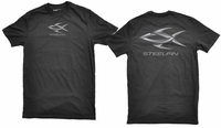 Steelfin Short Sleeve Logo Tee Black