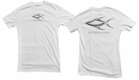 Steelfin Short Sleeve Logo Tee White