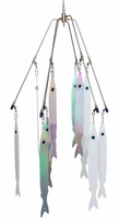 Tournament 620-3246 24in 6-Arm Striper Umbrella Rig 12 3D Stickbaits
