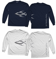 Steelfin Long Sleeve Logo Shirts