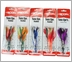 Boone 56000 Tuna Eye Feather Rigged Lure Kit 5 Pack