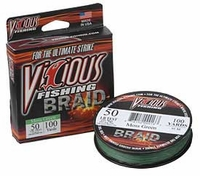 Vicious SBBG100 1500 Yds. Braided Fishing Line