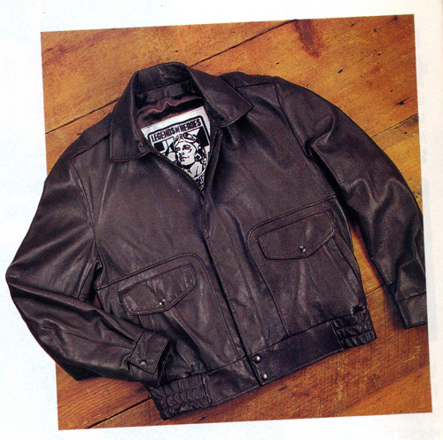 Leather Bomber Jacket - New in the Fly Market