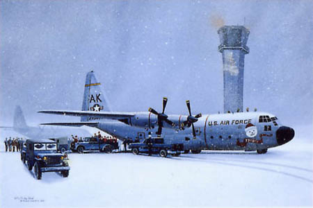 C-130 Hercules Airplane Art Print