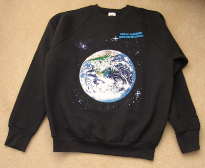Earth Sweatshirt NASA Image