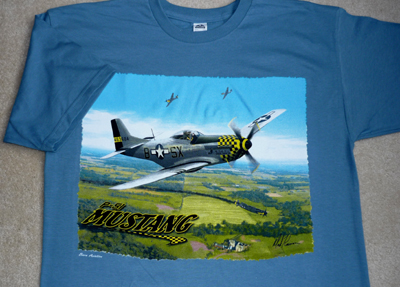 P 51 Mustang Airplane T Shirt