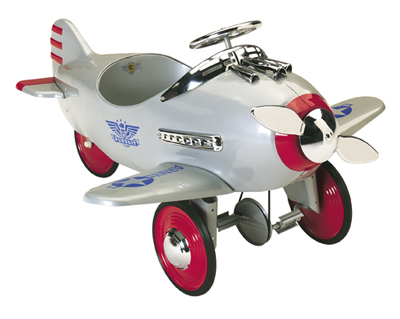 Silver Pursuit Pedal Plane - Free Shipping