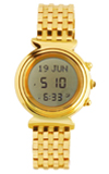 Al Fajr Ladies Digital Azan Watch (Model WF-14S) Round