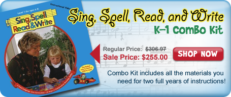 Sing, Spell, Read and Write K-1 Combo Kit