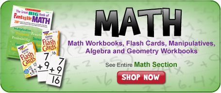 Math Workbooks, Math Flashcards, Math Posters