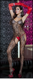 Bodystocking Floral Suspender
