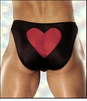 Men's Novelty Underwear Heart On Bikini