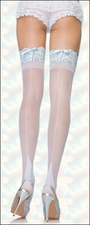 Queen Size Bridal Thigh High Backseam & Corseted Lace Tops