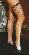 Queen Size Fence Net Thigh High Stockings
