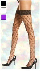 Queen Size Stocking Fence Net  with Lace Top