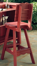 Uwharrie Companion Bar Stool with Back