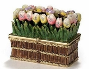 Enameled & Jeweled Long Tulip Box