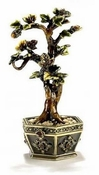 Enameled & Jeweled Bonsai Golden Tree