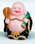 Enameled & Jeweled Chinese Buddha Box