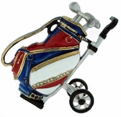 Enameled & Jeweled Golf Clubs Box