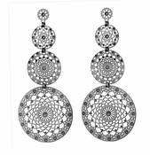 LK Jewelry Triple Drop Earrings
