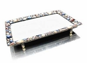 Well Jeweled Multi-Color Stone Jeweled Vanity Tray