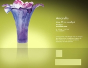 Daum Crystal Amethyst Vase - Guaranteed Lowest Price