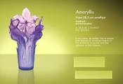 Daum Crystal Amethyst Vase - 10% OF YOUR PURCHASE BACK